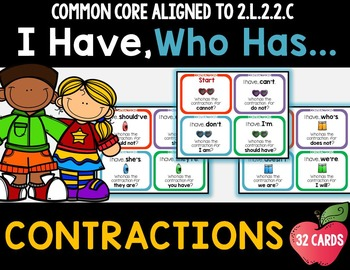 Contractions - I Have Who Has