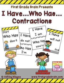 Contractions I Have Who Has Card Game