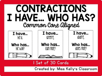 Contractions I Have... Who Has? (Common Core Aligned)