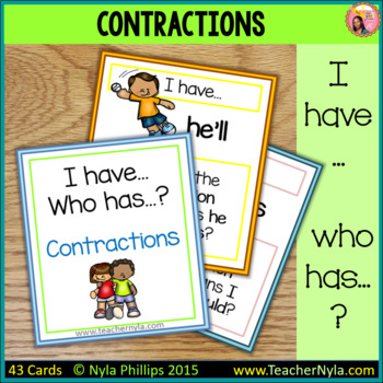 Contractions 'I Have Who Has' Game