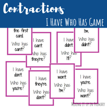 Contractions I Have, Who Has Game