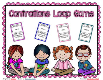 Contractions - I have - Who Has Loop Card Game