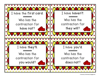Contractions I have..., Who has...?