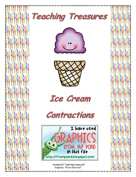 Contractions Ice Cream Cone Match Game