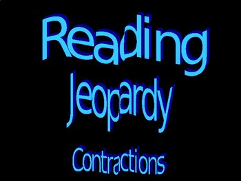 Contractions Jeopardy