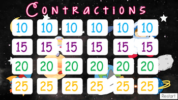 Contractions Jeopardy Style Game Show