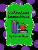 Contractions Lesson Plans (5 days)