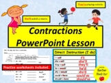 Contractions Lesson (Primary Grades)