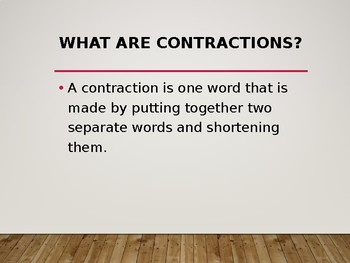 Contractions - Lesson and Game