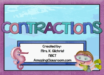 Contractions Lesson for SMARTBOARD - Smart Notebook