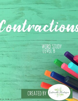 Contractions Level B- Word Study