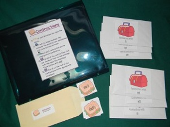 Contractions Literacy Center Classroom Resource tool- Hard Good