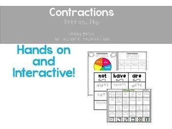 Contractions Literacy Centers