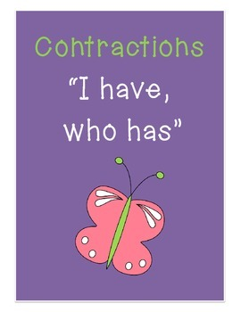 Contractions Literacy Game