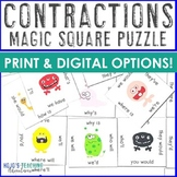 Contraction Center Game - Magic Square Puzzle