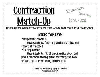 Contractions Match-Up!