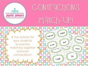 Contractions Match-Up Activity!