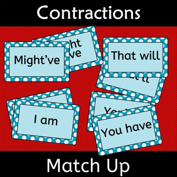 Contractions Match up Apostrophes