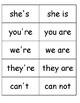 Contractions Matching Game