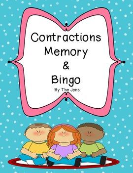 Contractions Memory (***BONUS*** Contractions Bingo)