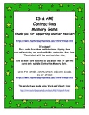 Contractions Memory Game (IS & ARE contractions)