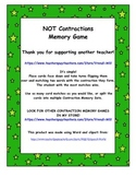 Contractions Memory Game (Not Contraction)
