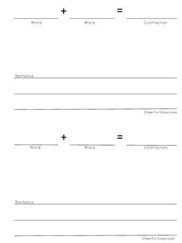 Contractions Mini-Book Common Core Aligned