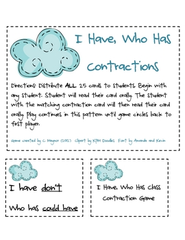 Contractions Mini Unit