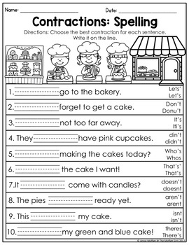 Contractions NO PREP Packet