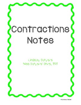Contractions Notes