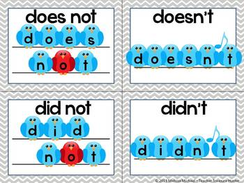 Contractions Pack - Game, posters, bulletin board, worksheets  *75 pages!