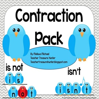 Contractions Pack - Game, posters, bulletin board, workshe