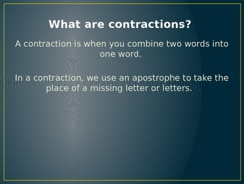 Contractions- Phonics