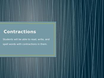 Contractions- Phonics