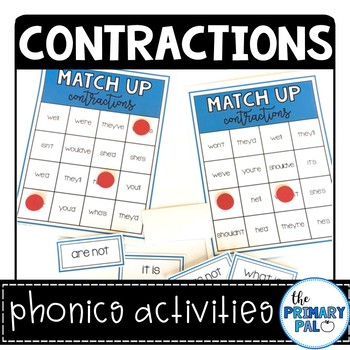 Contractions Phonics Activity Set