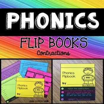 Journeys Jellies   Contractions   Phonics Flip Book