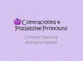 Contractions & Possessive Pronouns PowerPoint