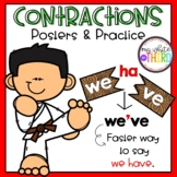 Contractions Posters & Practice