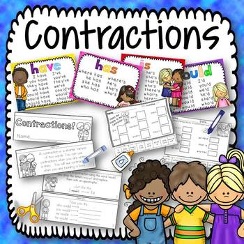 Contractions Posters and Book Activity