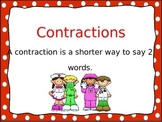 """Contractions Power Point to use with """"Contraction Surgery"""""""