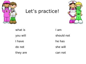 "Contractions Power Point to use with ""Contraction Surgery"""