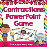 Contractions PowerPoint Game: Hidden Answers