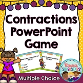 Contractions PowerPoint Game: Multiple Choice Questions