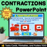 Contractions PowerPoint, Posters, Task Cards and Printables