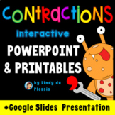 Contractions PowerPoint and Printables for 1st, 2nd, and 3rd grade