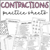 Contractions Practice Activity Sheets