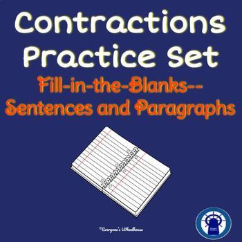 No-Prep Contractions Practice Set