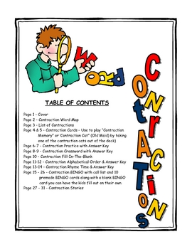 Contractions Printable Activities