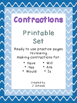 Contractions Printable Set