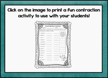 Contractions Promethean ActivInspire Flipchart Lesson
